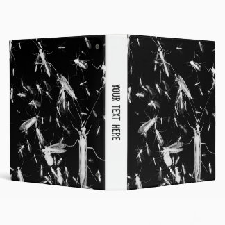 Insects on black binder