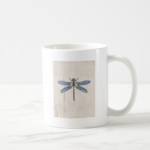 Insects Series- Dragonfly by VOL25 Classic White Coffee Mug
