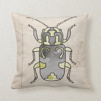 Insects Series- Red Beetle+ Beetle 2 for 1 Throw Pillow