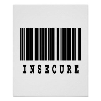 insecure barcode design poster