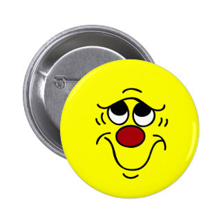 Insecure Smiley Face Grumpey Button