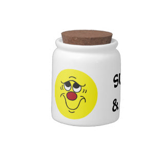 Insecure Smiley Face Grumpey Candy Jar