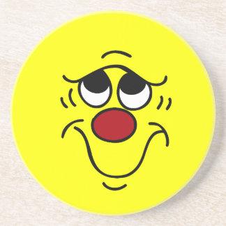 Insecure Smiley Face Grumpey Drink Coaster