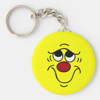 Insecure Smiley Face Grumpey Keychain