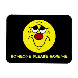 Insecure Smiley Face Grumpey Magnet