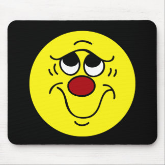 Insecure Smiley Face Grumpey Mouse Pad