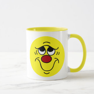 Insecure Smiley Face Grumpey Mug