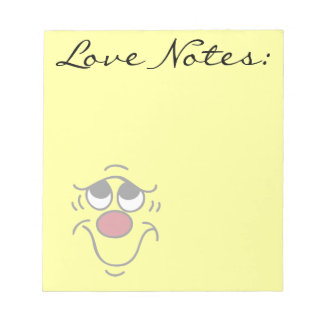 Insecure Smiley Face Grumpey Notepad