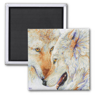 Inseparable - Wolf Duo 2 Inch Square Magnet