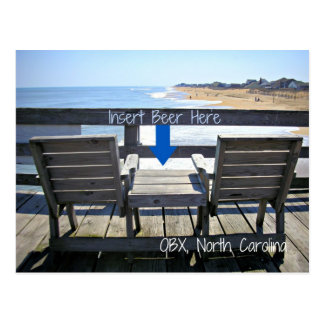 Insert Beer Here OBX North Carolina Beach Postcard