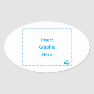 Insert Graphic Here Oval Sticker