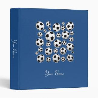 Insert Name - Classic Blue Soccer Ball Binder