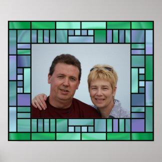 Insert own photo, art venetian glass frame poster