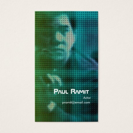 Cool Blue Dots Actor Photo Business Cards