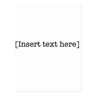 insert text here postcard