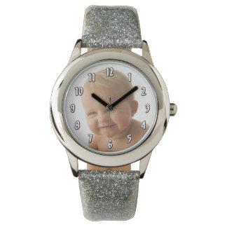 Insert Vertical Photo - number template Wrist Watch