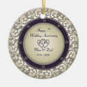 Insert Years Wedding Anniversary Ceramic Ornament (<em>$16.85</em>)