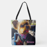 Insert Your Image Here Personalized Pooch Photo Tote Bag at Zazzle