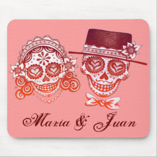 Insert YOUR NAMES on this Day of the Dead mousepad