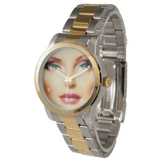 Insert Your Own Image Cool DIY IV Two-Tone Wrist Watch