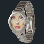 """Insert Your Own Image Unisex DIY Silver Bracelet Wristwatch<br><div class=""""desc"""">Looking for a personal gift that you can add your own image to? Here is a beautiful Silver Bracelet watch that you can insert your own photo into to make it special. You can also delete the numbers face if you wish when you choose to customize. If you like the...</div>"""