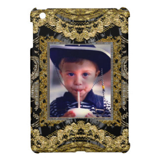 Insert Your Own Photo Baroque Frame iPad Mini Cover