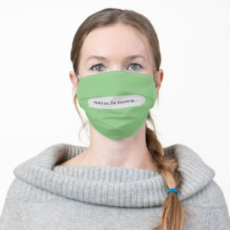 Insert Your Own TXT Message Cloth Face Mask