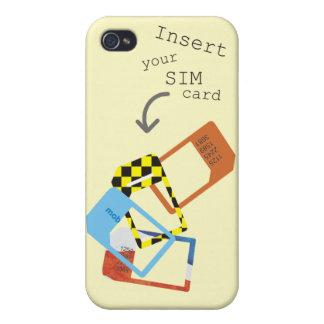 """Inserte caso del iPhone 4 de su tarjeta de SIM"" iPhone 4 Funda"