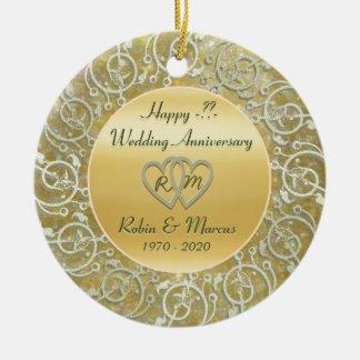 Inserte el aniversario de boda de los años