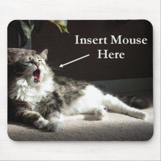 Inserte el ratón aquí Mousepad Alfombrilla De Raton
