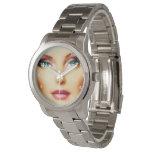 Inserte su propia pulsera de plata unisex de la relojes de mano