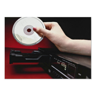 Inserting CD into CD player Invites