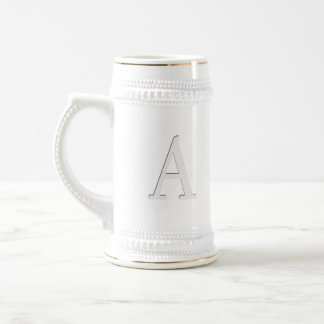 Inset Monogrammed Letter A Beer Stein