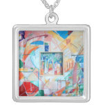 inset painting necklace