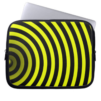 inside a bee laptop computer sleeve