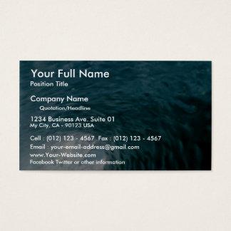 Inside a breaking wave business card