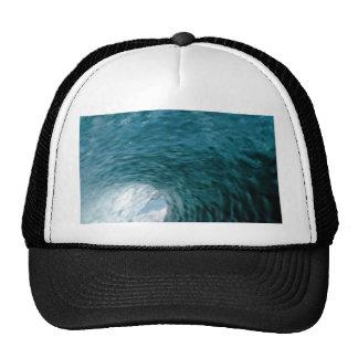 Inside a breaking wave mesh hat