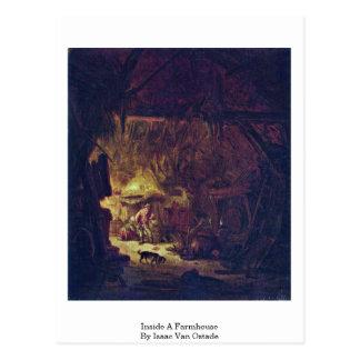 Inside A Farmhouse By Isaac Van Ostade Postcard