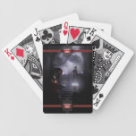 Inside a foggy portrait of Dorian playing cards