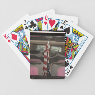 Inside a rockabilly car poker cards