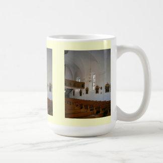 Inside a Roman Catholic church Coffee Mug