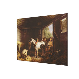 Inside a Stable Canvas Print