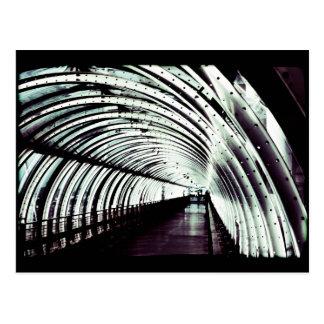 Inside a Tube Postcard