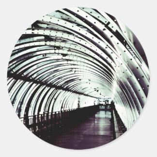 Inside a Tube Round Sticker