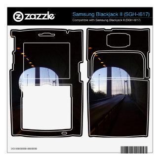 inside a Tunnel Samsung Blackjack II Skin