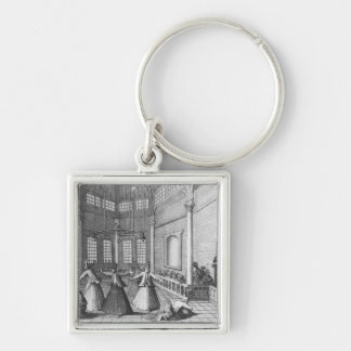 Inside a Turkish Mosque, illustration Key Chains