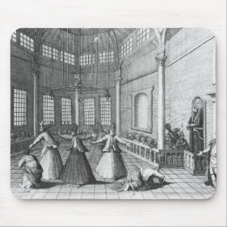 Inside a Turkish Mosque, illustration Mouse Pad