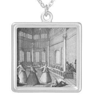 Inside a Turkish Mosque, illustration Custom Jewelry