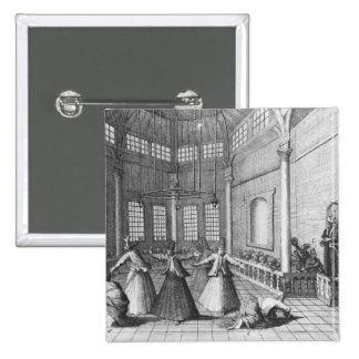 Inside a Turkish Mosque, illustration Pinback Button