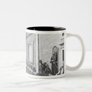 Inside a Turkish Mosque, illustration Two-Tone Coffee Mug